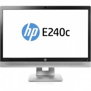 Monitor HP EliteDisplay E240C, 24 inch, IPS, W LED, VGA, HDMI, USB, Webcam, Full HD, Fara picior