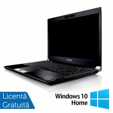 Laptop Refurbished Toshiba Portege R830-13C, Intel Core I5-2520M 2.50Ghz, 4GB, 320GB SATA, 13.3 inch LED, HDMI, Card Reader + Windows 10 Home