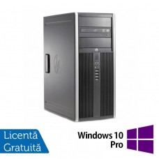 Calculator HP 6200 Pro Mt Tower, Intel Core i3-2100 3.10GHz, 4GB DDR3, 250GB SATA, DVD-ROM + Windows 10 Pro