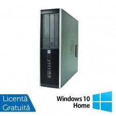 Calculator Refurbished HP 8000 Elite SFF, Intel Core 2 Duo E8400, 3.00GHz, 4GB DDR3, 250GB SATA, DVD-ROM + Windows 10 Home