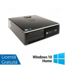 Calculator Refurbished HP 8000 Elite SFF, Intel Pentium Dual Core E5700 3.00GHz, 4GB DDR3, 250GB SATA, DVD-ROM + Windows 10 Home