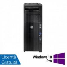 Workstation Refurbished HP Z620, 2x Intel Xeon E5-2620 2.00GHz-2.50GHz HEXA Core, 64GB DDR3 ECC, 240GB SSD NOU,nVidia Quadro K2000/2GB GDDR5 + Windows 10 Pro