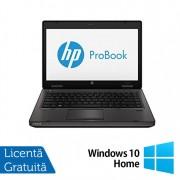 Laptop Refurbished HP ProBook 6470B, Intel Core i3-2370M 2.40GHz, 4GB DDR3, 320GB SATA, DVD-RW + Windows 10 Home