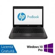 Laptop Refurbished HP ProBook 6470B, Intel Core i3-2370M 2.40GHz, 4GB DDR3, 320GB SATA, DVD-RW + Windows 10 Pro