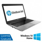 Laptop HP EliteBook 840 G1, Intel Core i5-4200U 1.60GHz, 8GB DDR3, 120GB SSD, Webcam, 14 Inch + Windows 10 Home