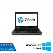 Laptop Hp Zbook 15 G2, Intel Core i7-4610M 3.00GHz, 16GB DDR3, 240GB SSD, Nvidia Quadro K1100M 2GB GDDR5, DVD-RW, 15.6 Inch, Full HD, Webcam + Windows 10 Home