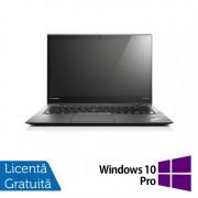 Laptop Lenovo ThinkPad X1 CARBON 3rd, Intel Core i7-5600U 2.60GHz, 8GB DDR3L, 256GB SSD M.2, 14 Inch Multitouch Screen 2560x1440 WQHD IPS + Windows 10 Pro
