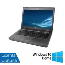 Laptop HP ProBook 6475b, AMD A4-4300M 2.50GHz, 4GB DDR3, 320GB SATA, DVD-RW, 14 Inch + Windows 10 Home