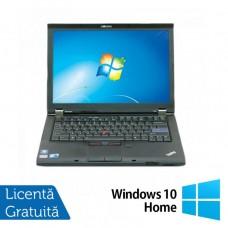 Laptop LENOVO T410, Intel Core i5-520M 2.40GHz, 4GB DDR3, 320GB SATA, DVD-RW, 14.1 Inch + Windows 10 Home