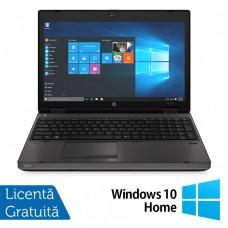 Laptop HP ProBook 6570b, Intel Core i3-3120M 2.50GHz, 4GB DDR3, 320GB SATA, DVD-RW, 15.6 inch, LED, Webcam, Tastatura numerica + Windows 10 Home
