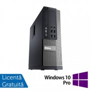 Calculator DELL OptiPlex 7010 SFF, Intel Core i5-3470 3.20GHz, 4GB DDR3, 250GB SATA, DVD-RW + Windows 10 Pro