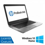 Laptop HP EliteBook 640 G1, Intel Core i5-4210M 2.60GHz, 8GB DDR3, 500GB SATA, DVD-RW, Webcam, 14 inch + Windows 10 Home