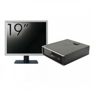 Pachet Calculator HP 6300 SFF, Intel Core i5-2400 3.10GHz, 4GB DDR3, 250GB SATA, 1 Port Com + Monitor 19 Inch