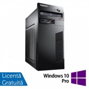 Calculator Lenovo ThinkCentre M71e Tower, Intel Core i5-2400 3.10GHz, 8GB DDR3, 120GB SSD + 500GB HDD, Placa video Gaming AMD Radeon R7 350 4GB, DVD-ROM + Windows 10 Pro