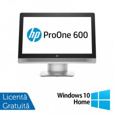 Calculator All In One HP ProOne 600 G2 21.5 Inch LED, Intel Core i5-6500 3.20GHz, 8GB DDR4, 500GB SATA, Wireless, Bluetooth, Webcam + Windows 10 Home