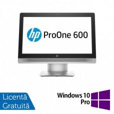 Calculator All In One HP ProOne 600 G2 21.5 Inch LED, Intel Core i5-6500 3.20GHz, 8GB DDR4, 500GB SATA, Wireless, Bluetooth, Webcam + Windows 10 Pro