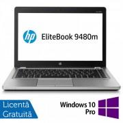 Laptop HP EliteBook Folio 9480m, Intel Core i7-4600U 2.60GHz, 8GB DDR3, 240GB SSD, 14 Inch, Webcam + Windows 10 Pro