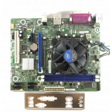 Placa de baza Intel DH61WW, Socket 1155, 2x DDR3, cu Shield + CPU Intel Core i3-2120 3.30GHz + Cooler