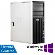 WorkStation HP Z400, Intel Xeon Quad Core W3520 2.66GHz-2.93GHz, 12GB DDR3, 1TB SATA, Placa Video nVidia Quadro4000/2GB, DVD-RW + Windows 10 Pro
