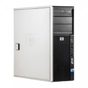 WorkStation HP Z400, Intel Xeon Quad Core W3520 2.66GHz-2.93GHz, 8GB DDR3, 500GB SATA, Placa Video nVidia GT640/1GB, DVD-RW