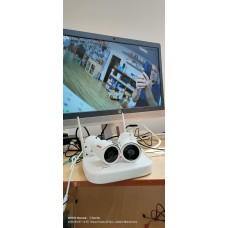 Sistem supraveghere IP exterior wireless Acvil KIT 2 WIFI-2MP-30, 2 camere IP, 2 MP, IR 25 m